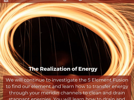 THE REALIZATION OF ENERGY.