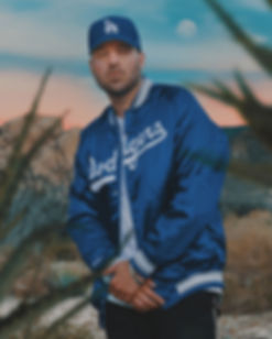 Artist/Director PeeZee rocking Dodgers jacket