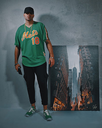 Artist/Director PeeZee rocking Darryl Strawberry vintage Mets jersey