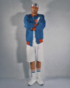 Artist & Director PeeZee wearing Montreal Expos 1984 Jacket
