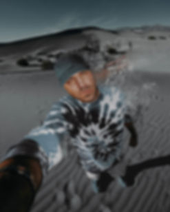 Artist & Director PeeZee in the sand dunes