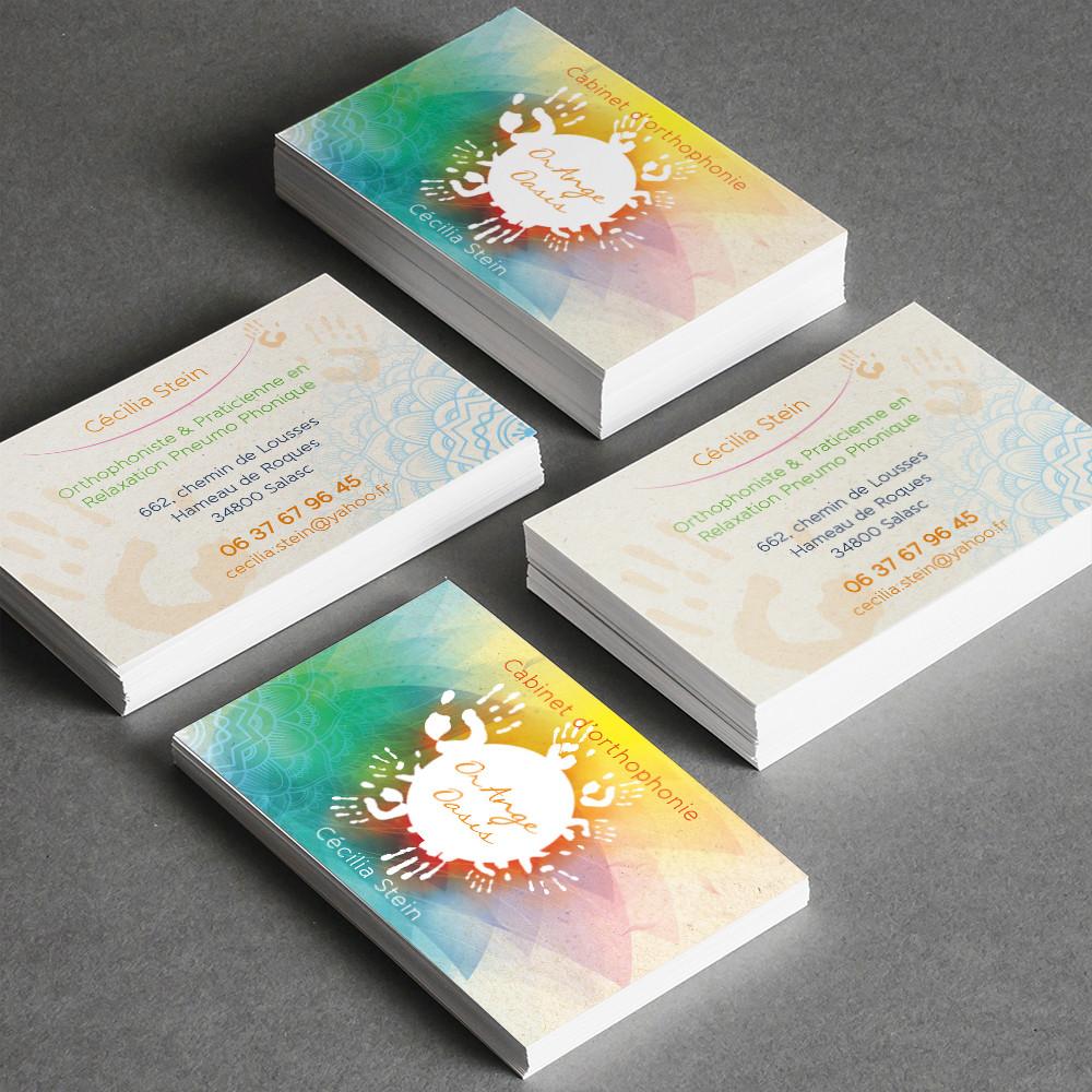 Pour Cecilia Stein Orthophoniste Praticienne En Relaxation Pneumo Phonique Carte De Visite