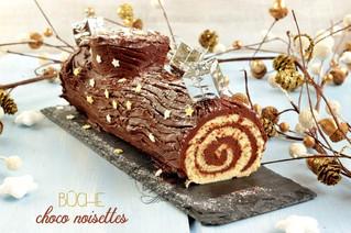 Buche de Noel Παραδοσιακός Χριστουγεννιάτικος κορμός με σοκολάτα