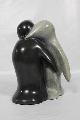 54- pingouins face-6- 28x21x18cm .JPG