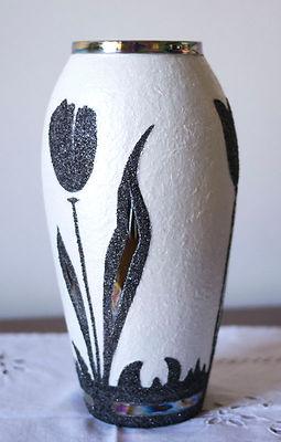 Vase Art Deco tulipes noires - A Dahome r.jpg