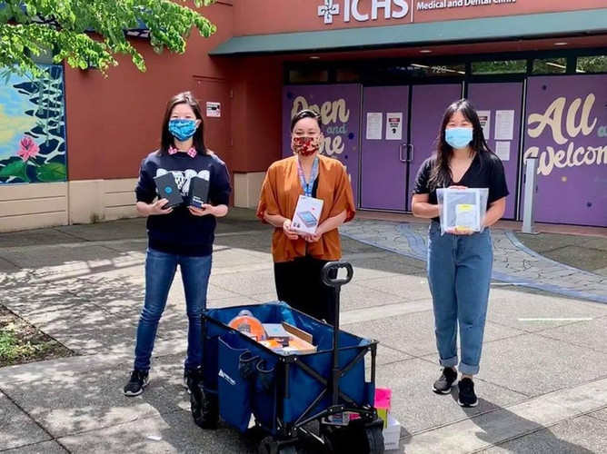 Our Washington team including state lead Grace Chen, Katie Li, Ethan Shen collected and donated 33 devices for the International Community Health Services (ICHS)! These devices will help provide digital medical care to Seattle, King County Asian, and Pacific Islander communities!