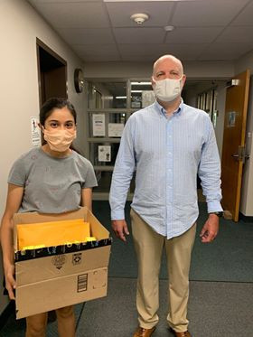 Volunteer Sarisha helping  by donating tablets to Alternative Paths, a community clinic in Ohio!