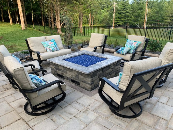 Large custom gas firepit
