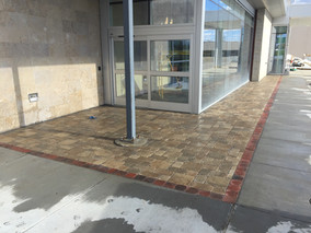 Commercial paver walkway