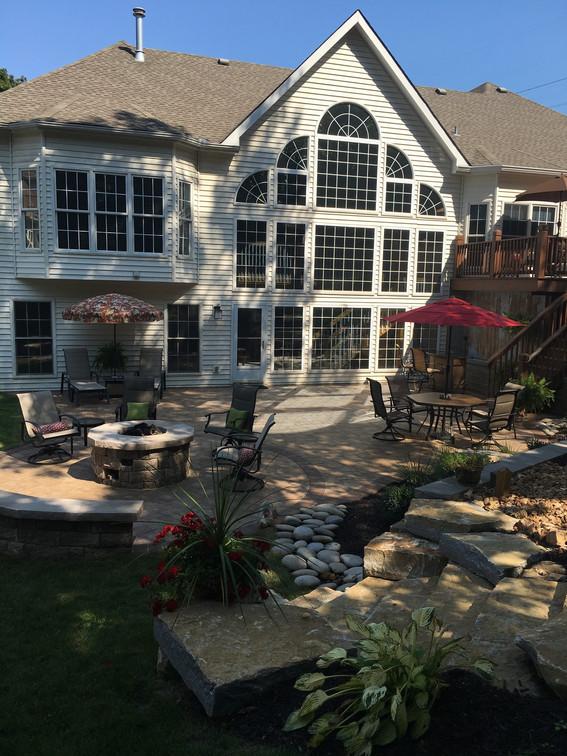 Full backyard landscape installation