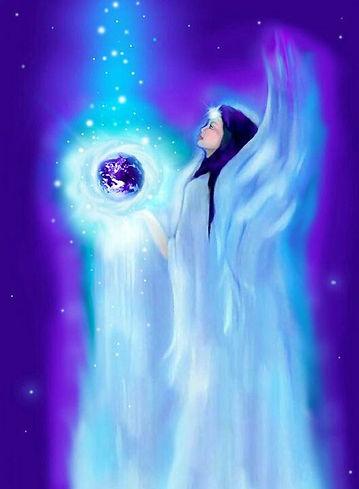 healing blue light