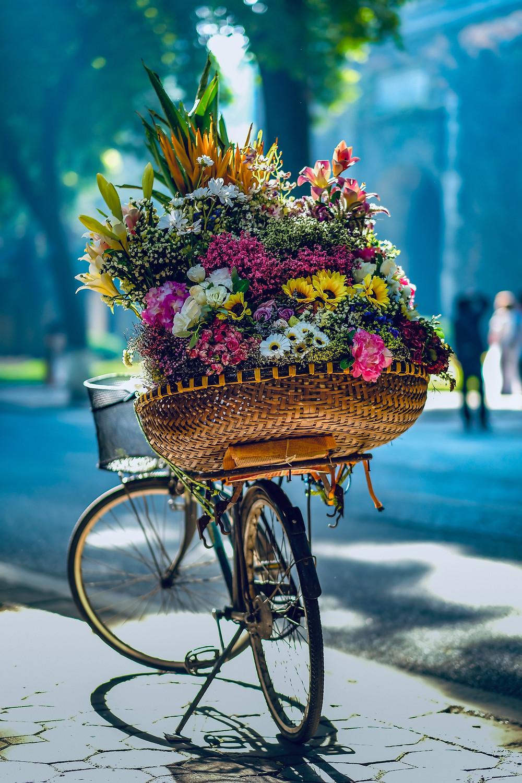Un velo avec un bouquet de fleurs au Vietnam