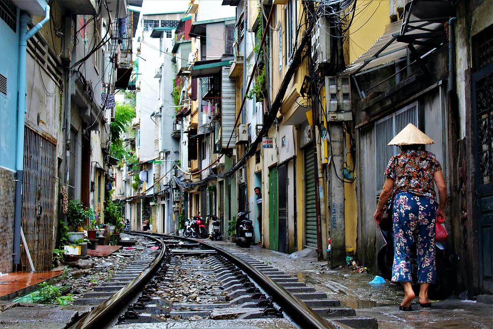 Une ruelle au Vietnam