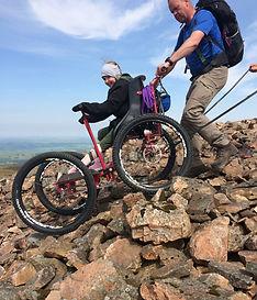 Parateker 4 coming down steep, rocky terrain