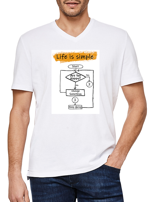 Life Is Simple - Men's Cotton T-shirt