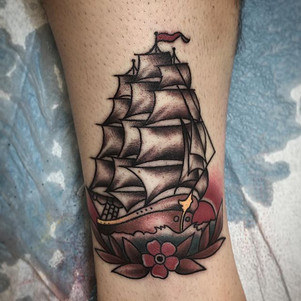 Traditionally Sailor Jerry clipper ship!