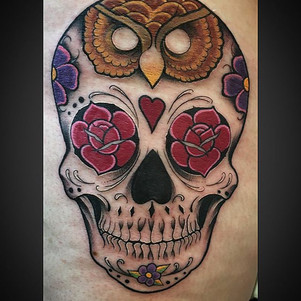 Rocked out this sugar skull today, thank
