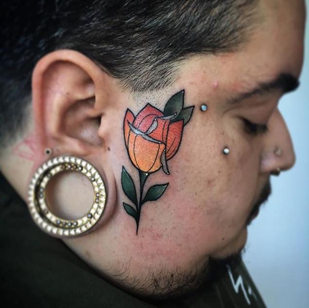 I tattooed my friends face today 😁 _com