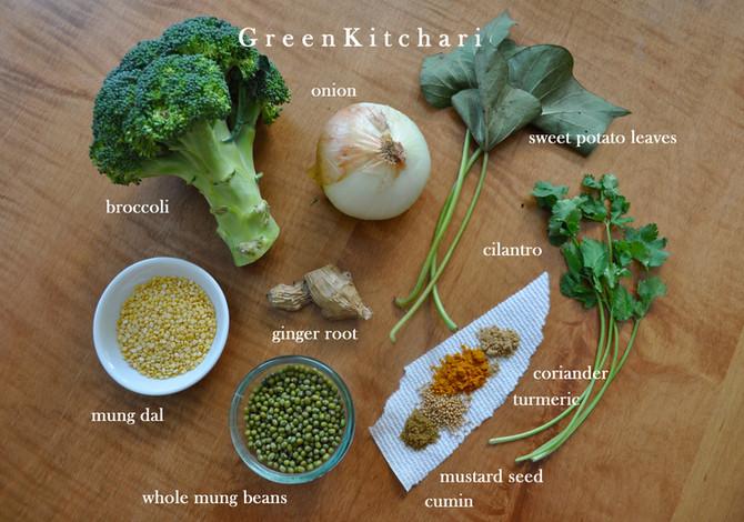 Vata balancing green kitchari
