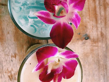 Tropical flowers always make a drink taste better 🌺🌺_•_•_•_•_•_•_•_•_•_#railaybeach #krabi #thailand #tropical #cocktails