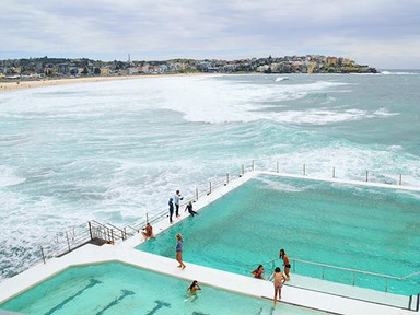 Finically visited the famous Bondi Icebergs yesterday, will definitely be back for a swim and sauna sesh soon! 💎 #visitbondibeach
