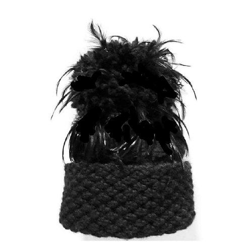 Black Luxury Alpaca/Merino Hat