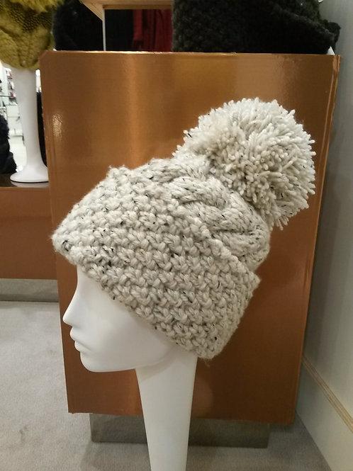 Cream Fleck Aran Hat