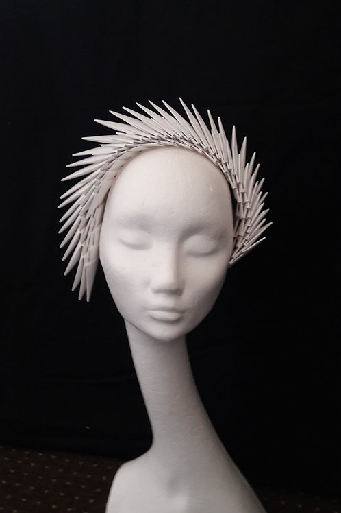 'Gaia' Ivory Origami Headpiece