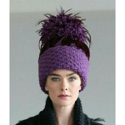 Mulberry Aran Wool Blend Hat