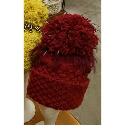Ruby Red Aran Wool Blend