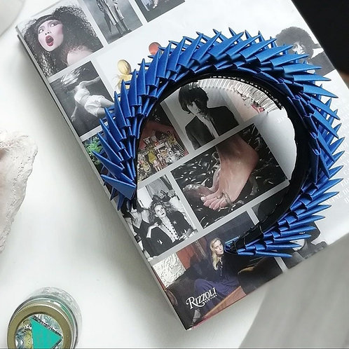 'Aslaug' Blue Origami Headpiece