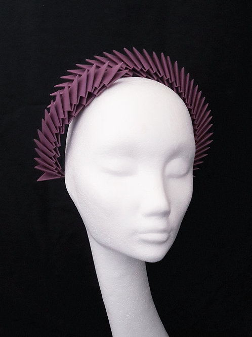 'Aslaug' Mulberry Origami Headpiece