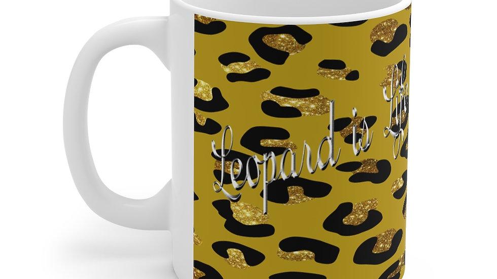 Leopard is Life mug