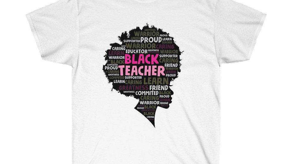 Black Teacher Cotton Tee