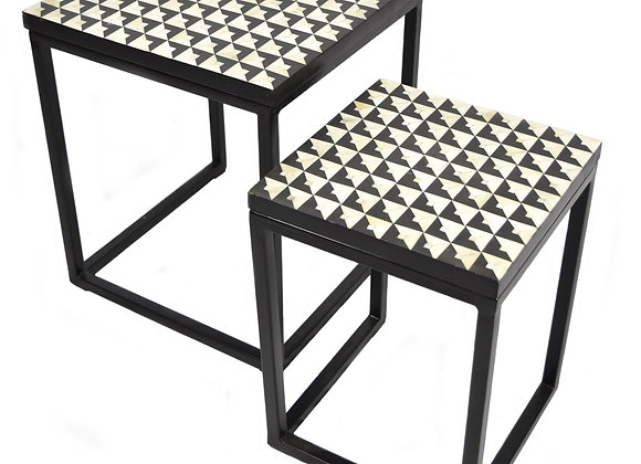 Inlay Side Table Set