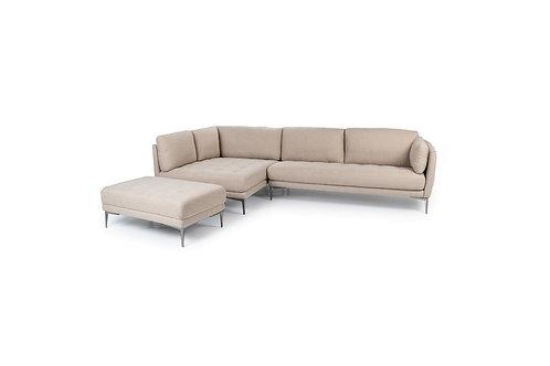 Carla L-shape Sofa (Beige/Left chaise)