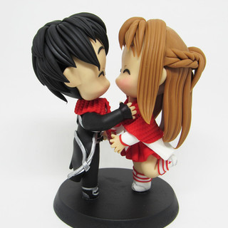 Asuna e Kirito Winter Kiss