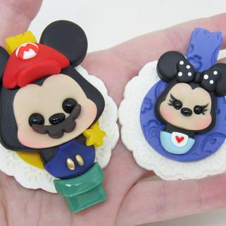 Chaveiros Tag Mickey Minnie