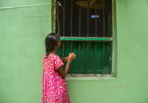 Girl watching T.V, Calcutta