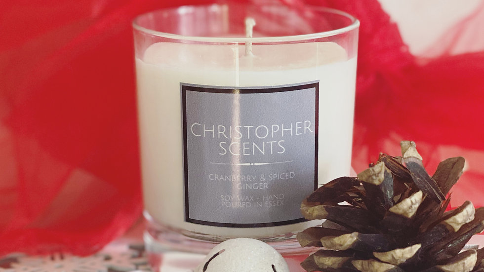 Cranberry & Spiced Ginger Candle