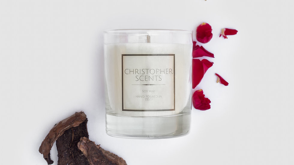 Silk Rose & Oud Candle