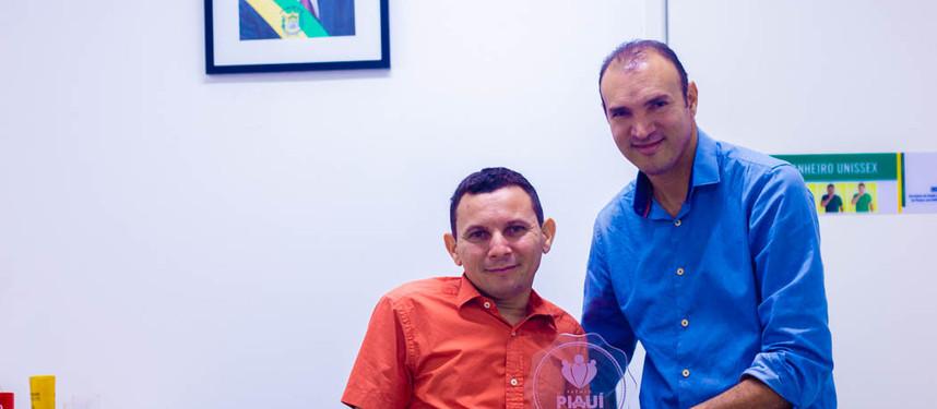 Coordenador do projeto visita Secretaria de Estado para Inclusão da Pessoa com Deficiência