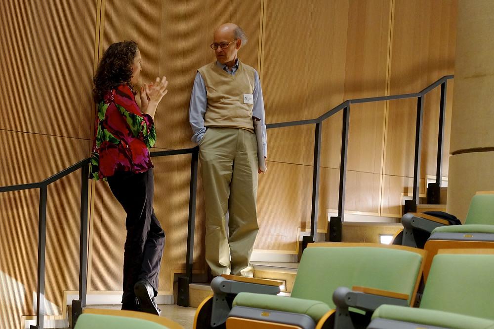 Sheila Patek and Steve Vogel at UNC in October 2015