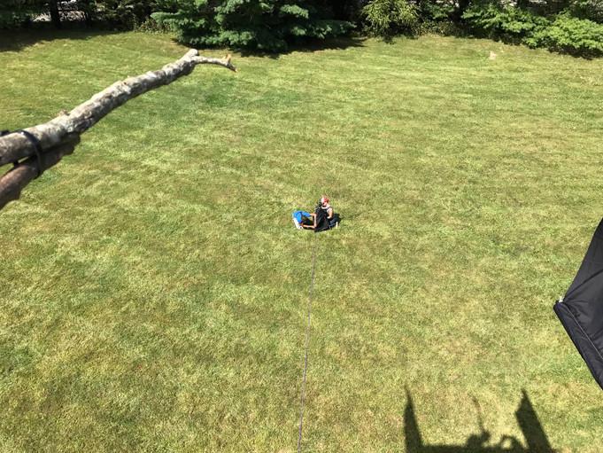 Flying snake glide trials at Virginia Tech
