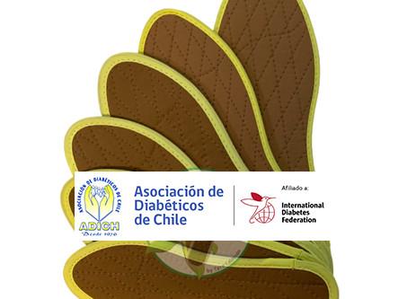 Plantillas de Canela en Asociación Diabéticos de Chile.