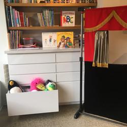 Puppet theatre & book corner