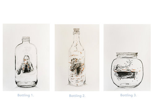 A triptych of drawings capturing the moments in life that we take for granted...