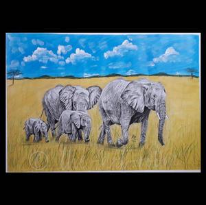 """Elephant Herd"" | Samy K. | $200"