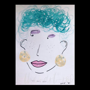 """Miss Purple Rain"" | Marie-Louise M. | $42."