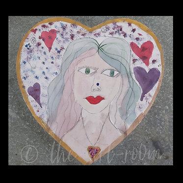 """Lady in a heart"""